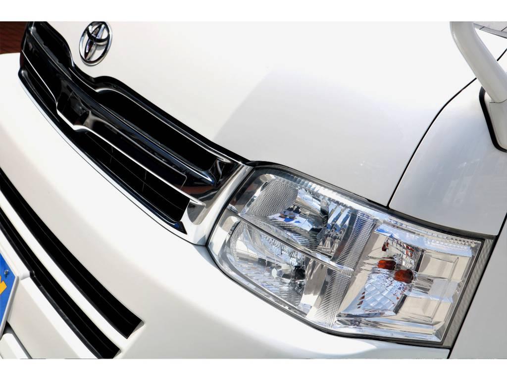 3型の2段ヘッドライトは、マニアな世界で人気の一品です♪インナーブラック施工等を加えてもお洒落ですね♪ | トヨタ ハイエースバン 3.0 スーパーGL ワイド ロング ミドルルーフ ディーゼルターボ