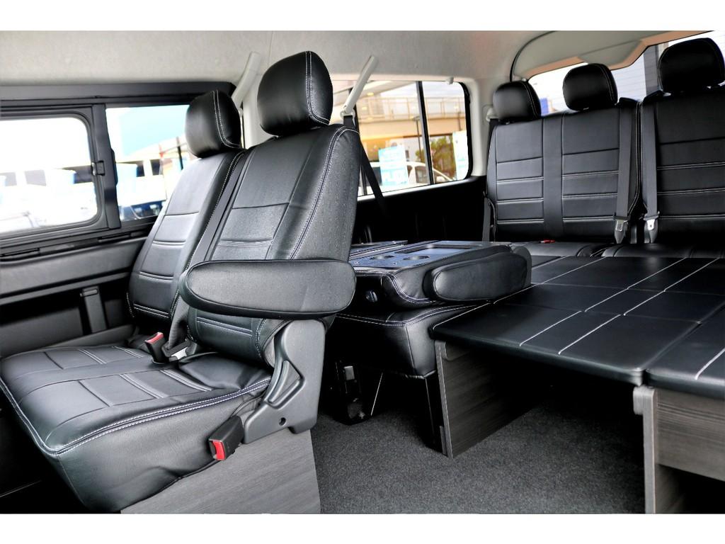 新作のベットキット完備で車中泊も可能!!