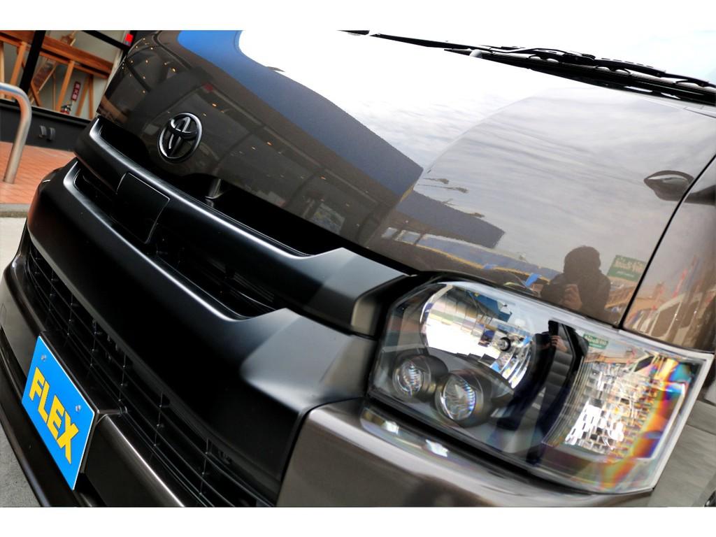 メーカーオプションLEDヘッドライトはインナーブラック塗装!!