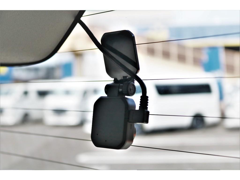ドライブレコーダーは前後装備されております!!