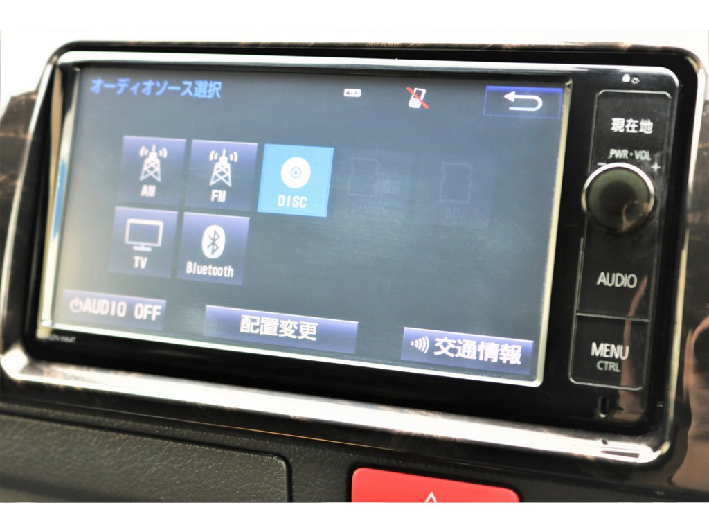 純正SDナビ搭載!!DVD再生・Bluetooth接続可能!