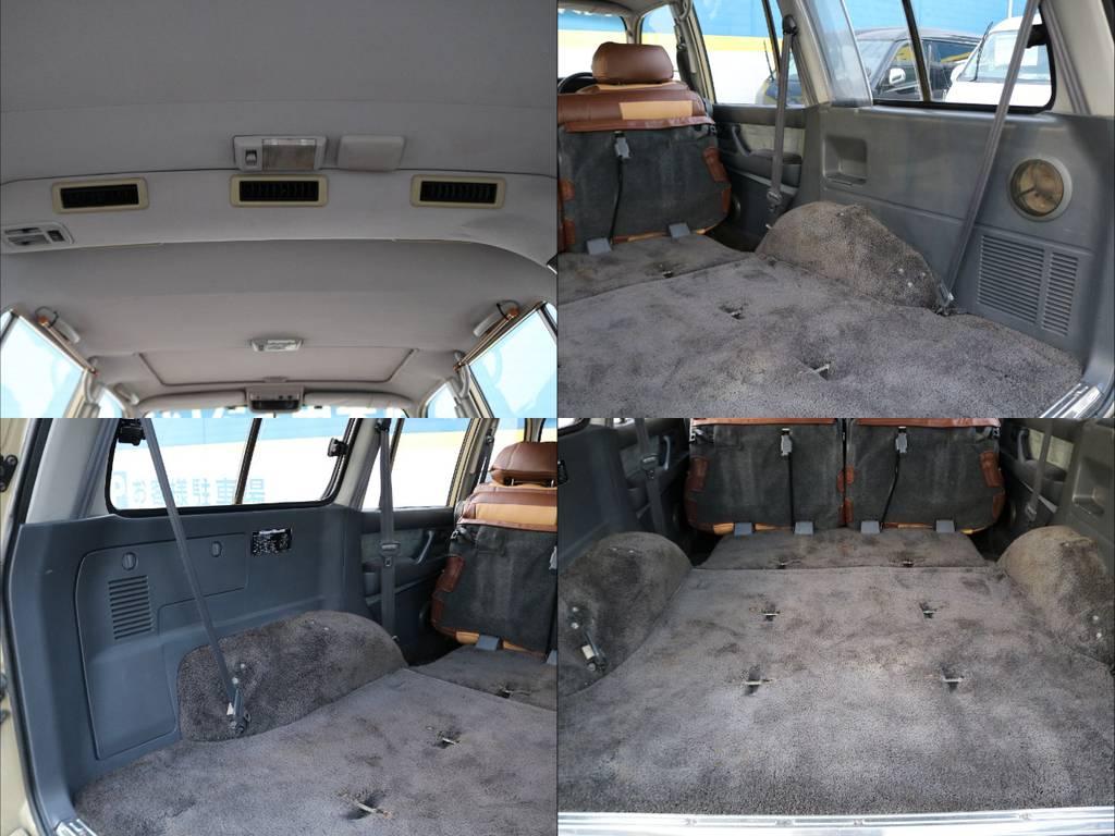 天張り、カーペット、内張りなどにも嫌なシミや汚れ、傷みなど見受けられません!! | トヨタ ランドクルーザー80 4.5 VXリミテッド 4WD FLEX Renoca