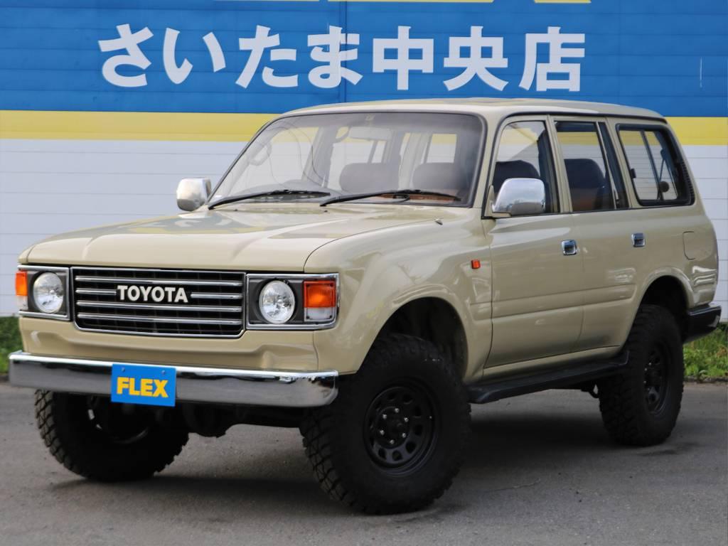 ランクル80人気の中期型★安心の当社過去販売車両をベースに、60系丸目フェイスを装着!!程度も良好でお勧めの一台が完成しました♪ | トヨタ ランドクルーザー80 4.5 VXリミテッド 4WD FLEX Renoca
