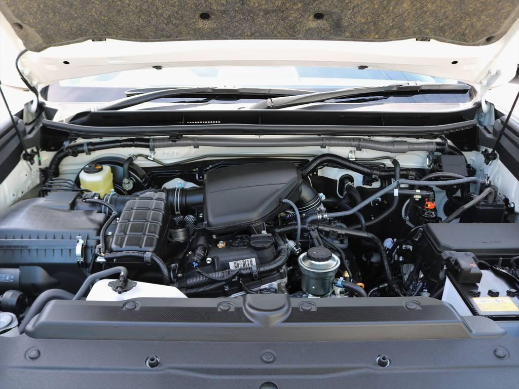 国内外で信頼の厚い2.7lガソリンEG!煩わしいタイミングベルト交換が不要なのはおろか、とにかくその頑丈さが世界中で認知されています。燃費やスムーズさなど軟な性能は、ランクルの本質に問われません。 | トヨタ ランドクルーザープラド 2.7 TX Lパッケージ 4WD 5人乗り 本革内装サンルーフ付き