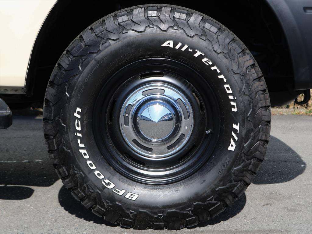 オールテレーンタイヤを履かせました。オールシーズンタイヤなのでタイヤ交換の必要がないです! | トヨタ ランドクルーザープラド 2.7 TX リミテッド 4WD