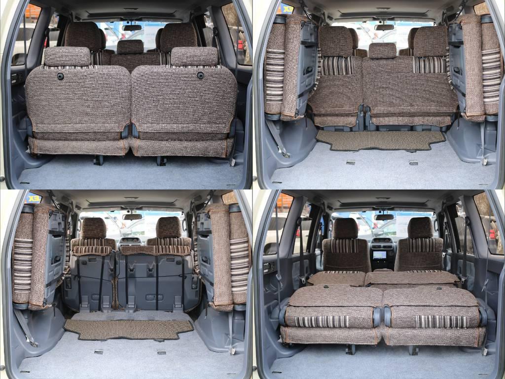 乗車人数や荷物によってシートアレンジが可能です! | トヨタ ランドクルーザープラド 2.7 TX リミテッド 4WD