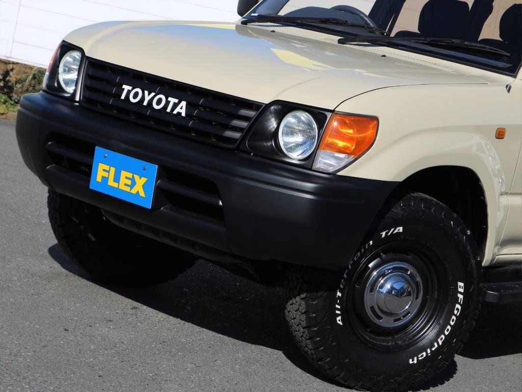 ワンオフ作成TOYOTAグリル。横文字のTOYOTAがお洒落でいいですね♪ | トヨタ ランドクルーザープラド 2.7 TX リミテッド 4WD