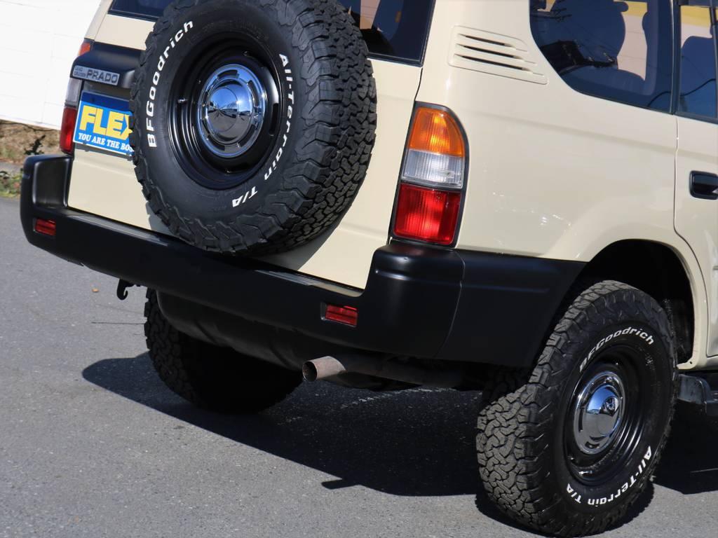 スペアも含め5本のタイヤおよびホイルを新品装着しております。 | トヨタ ランドクルーザープラド 2.7 TX リミテッド 4WD
