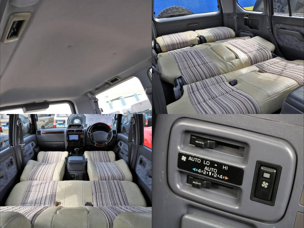 前期型のためフルフラットが可能!休憩やちょっとした車中泊にも | トヨタ ランドクルーザープラド 3.4 TZ 4WD サンルーフ Wエアコン タイベル換済