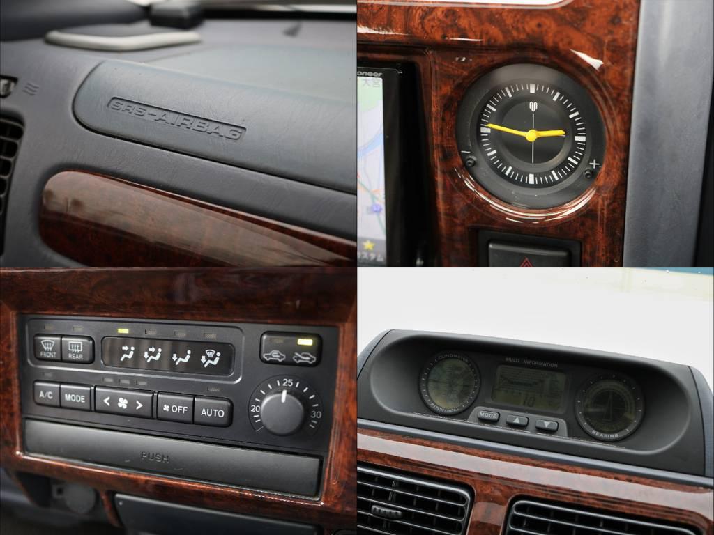 メーター周りや操作パネル周りにも目立った傷なし。 | トヨタ ランドクルーザープラド 3.4 TZ 4WD サンルーフ Wエアコン タイベル換済