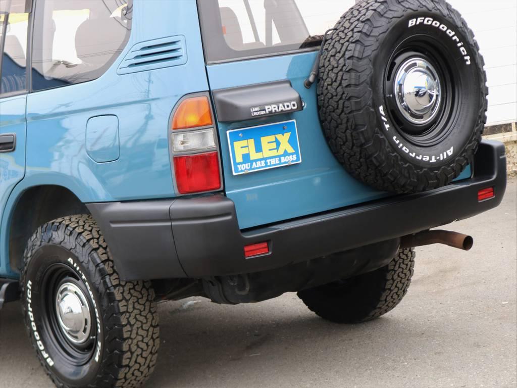 スペアも含め5本のタイヤおよびホイルを新品装着しております。 | トヨタ ランドクルーザープラド 3.4 TZ 4WD サンルーフ Wエアコン タイベル換済