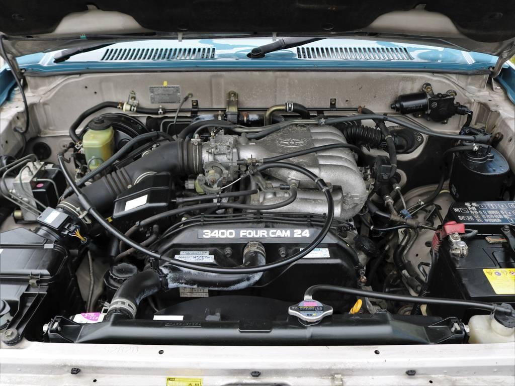 3.4リッターガソリンエンジン。年間約8千円で上位エンジンを体験できます★