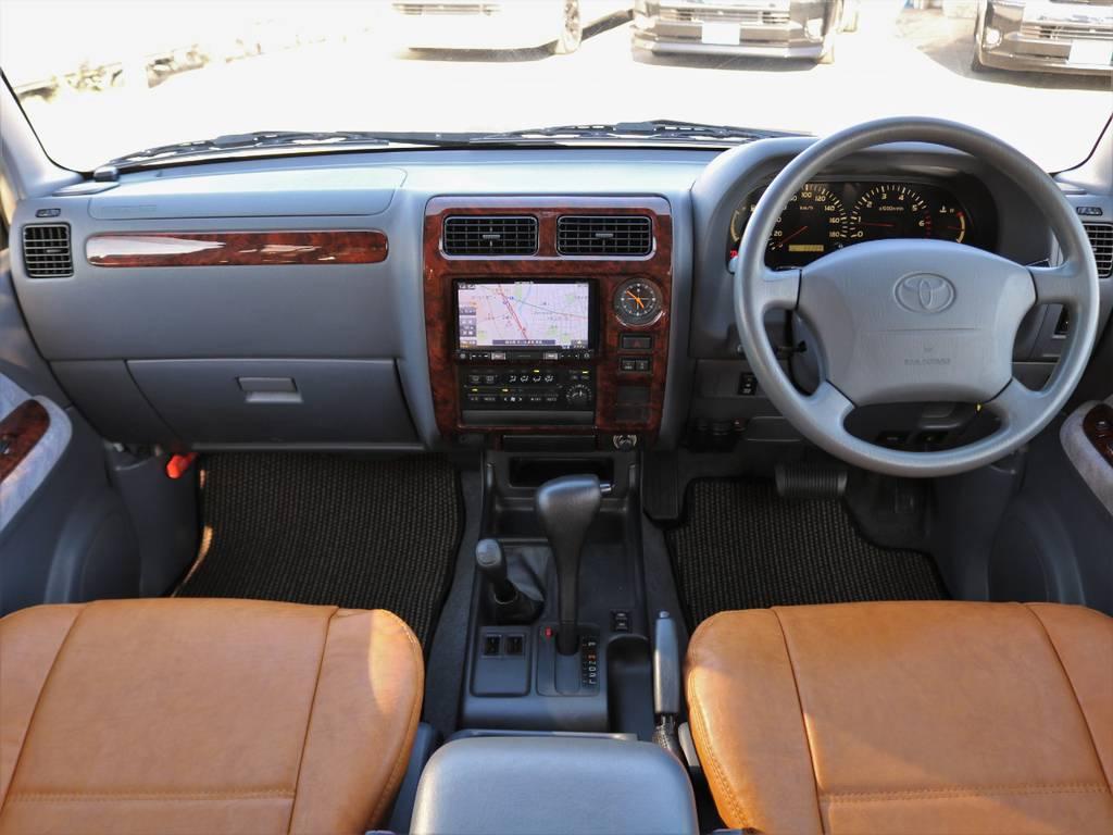 クールなグレー内装に新品オリジナルシートカバー♪ | トヨタ ランドクルーザープラド 2.7 TX リミテッド 4WD