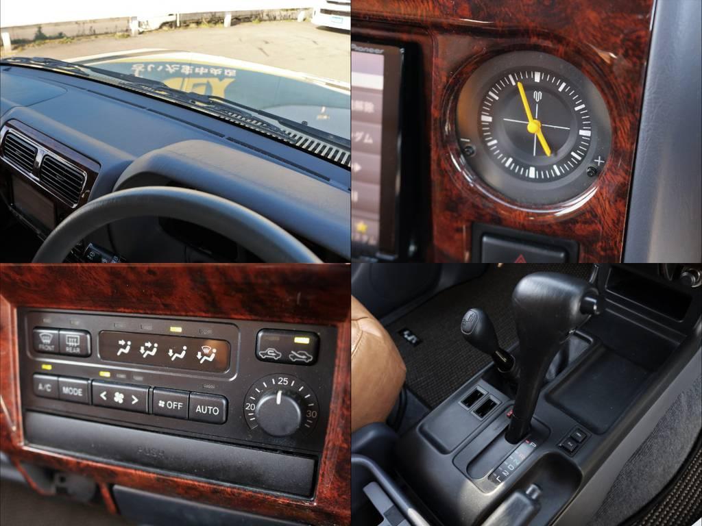 メーター周りや操作パネル周りにも目立った傷なし。 | トヨタ ランドクルーザープラド 2.7 TX リミテッド 4WD