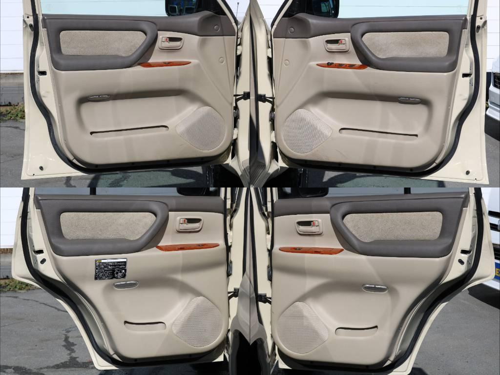 各ドア、内側も程度良好です!社外スピーカーも取付可能です。 | トヨタ ランドクルーザー100 4.7 VXリミテッド 4WD Renoca【106】丸目換装