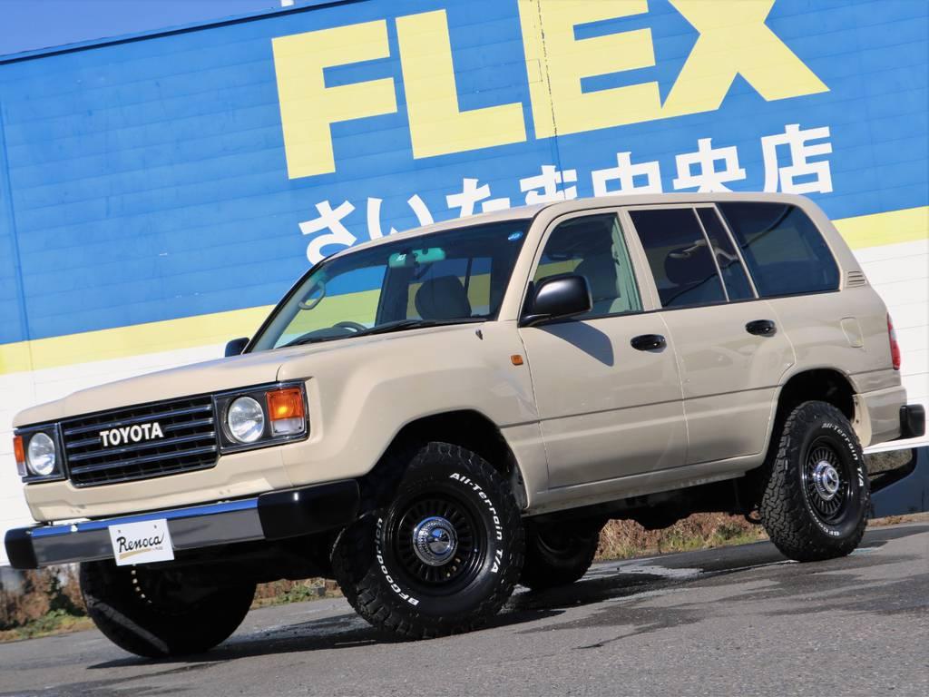 当店の車両は、全部位(消耗品と内外装パーツを除く)期間・走行距離無制限の安心保証付き★遠方のお客様へは、ご自宅のお近くの認証整備工場を保証整備先としてご紹介させて頂きます(^^)/ | トヨタ ランドクルーザー100 4.7 VXリミテッド 4WD Renoca【106】丸目換装