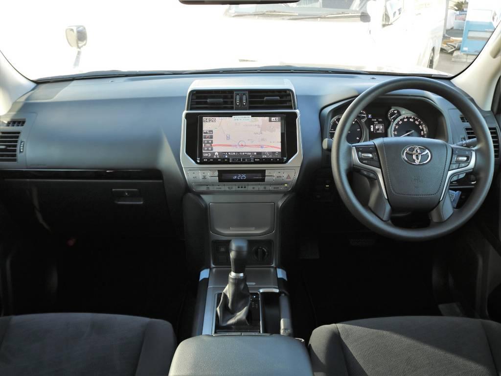 当店の新車プラドは全車9インチナビを新品装着しております。フリップダウンモニターやドライブレコーダー等もお気軽にご相談ください! | トヨタ ランドクルーザープラド 2.8 TX ディーゼルターボ 4WD 7人