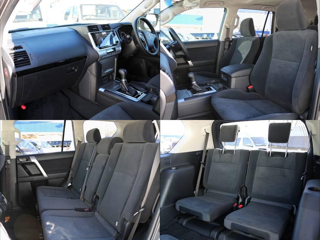 Wエアバッグ、サイド&カーテンシールドエアバッグを完備し、乗員の安全性に抜かりありません。家族や恋人など大切な方も安心してお乗せ頂けます! | トヨタ ランドクルーザープラド 2.8 TX ディーゼルターボ 4WD 7人