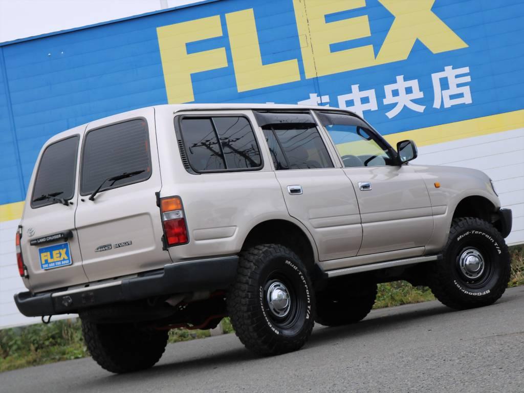掲載されているお写真や情報だけではお分かり頂けないことはありませんか!?どんな些細なことでも、この車両を詳しく把握している、ランクル専任担当の鈴木・東海までお気軽にお問い合わせください(^^♪   トヨタ ランドクルーザー80 4.5 GX 4WD 買取直販 観音リアドア