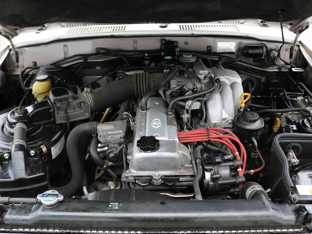 """""""1FZ""""型4.5リッターガソリンエンジン!!パワーや耐久性は、国内だけでなく世界中のお墨付きです!!   トヨタ ランドクルーザー80 4.5 GX 4WD 買取直販 観音リアドア"""