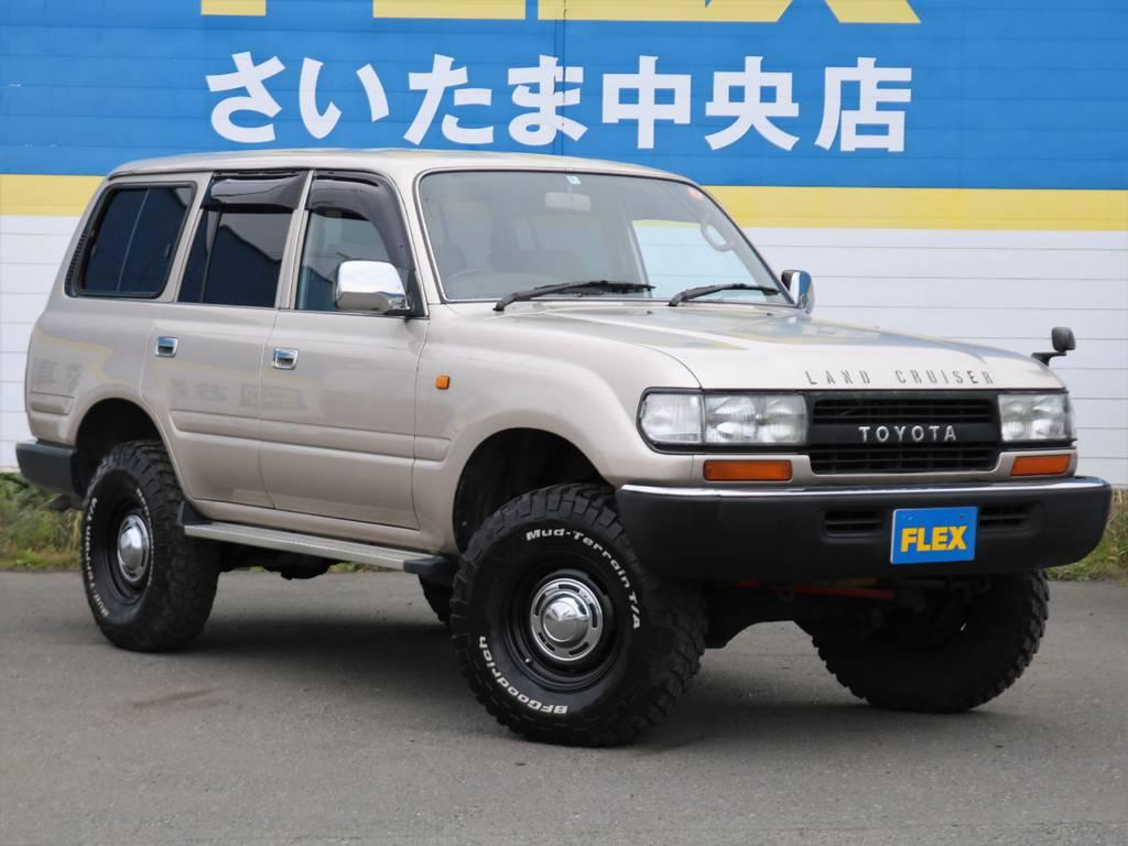 ナローボディはシンプルでスタイリッシュなのが格好いいですね!   トヨタ ランドクルーザー80 4.5 GX 4WD 買取直販 観音リアドア