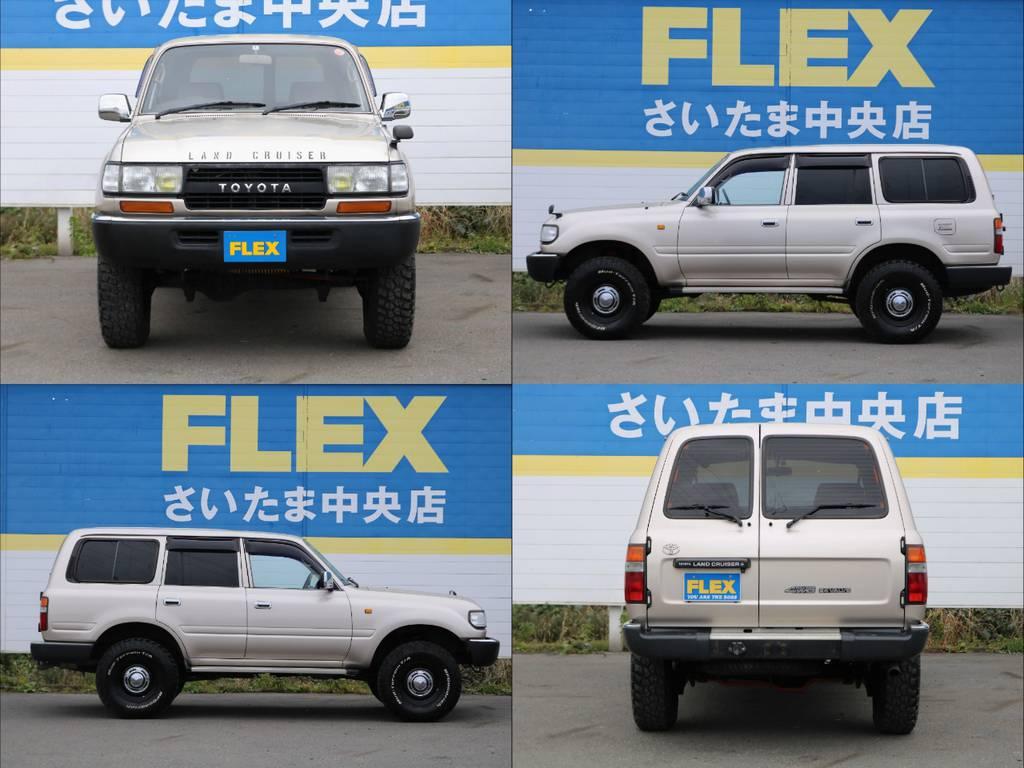 GXグレード、観音リアドア、純正ベージュメタリック、茶内装・・・と希少性の高いお車になります。ひととは違う一台をお求めの方に特にお勧めです!   トヨタ ランドクルーザー80 4.5 GX 4WD 買取直販 観音リアドア