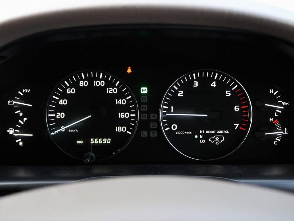 ご覧の通り、走行は5万km台。まだまだ末永くお付き合い頂ける車両です!当社自慢の保証とセットで、安心してご検討ください(^^♪ | トヨタ ランドクルーザー100 4.7 VXリミテッド Gセレクション 4WD 買取直販 低走行 地デジBカメ