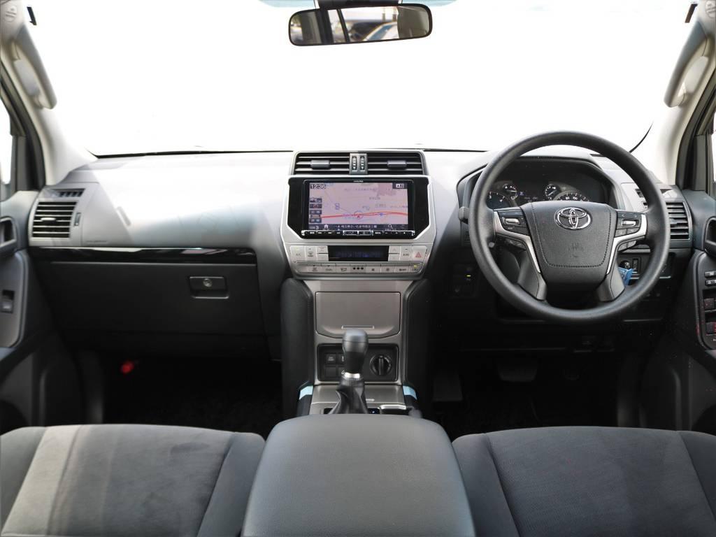 店の新車プラドは全車9インチナビを新品装着しております。バックカメラ、その他の映像も大変見やすくなっております!! | トヨタ ランドクルーザープラド 2.8 TX ディーゼルターボ 4WD 7人