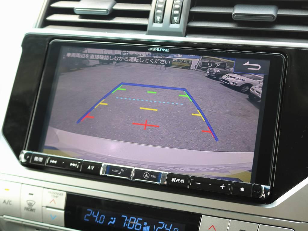 バックカメラももちろん付いているので、狭い駐車場でも簡単に止められます♪