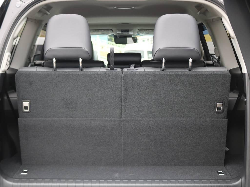 サードシートのヘッドレストも大型の物が付いているので安心感があります♪