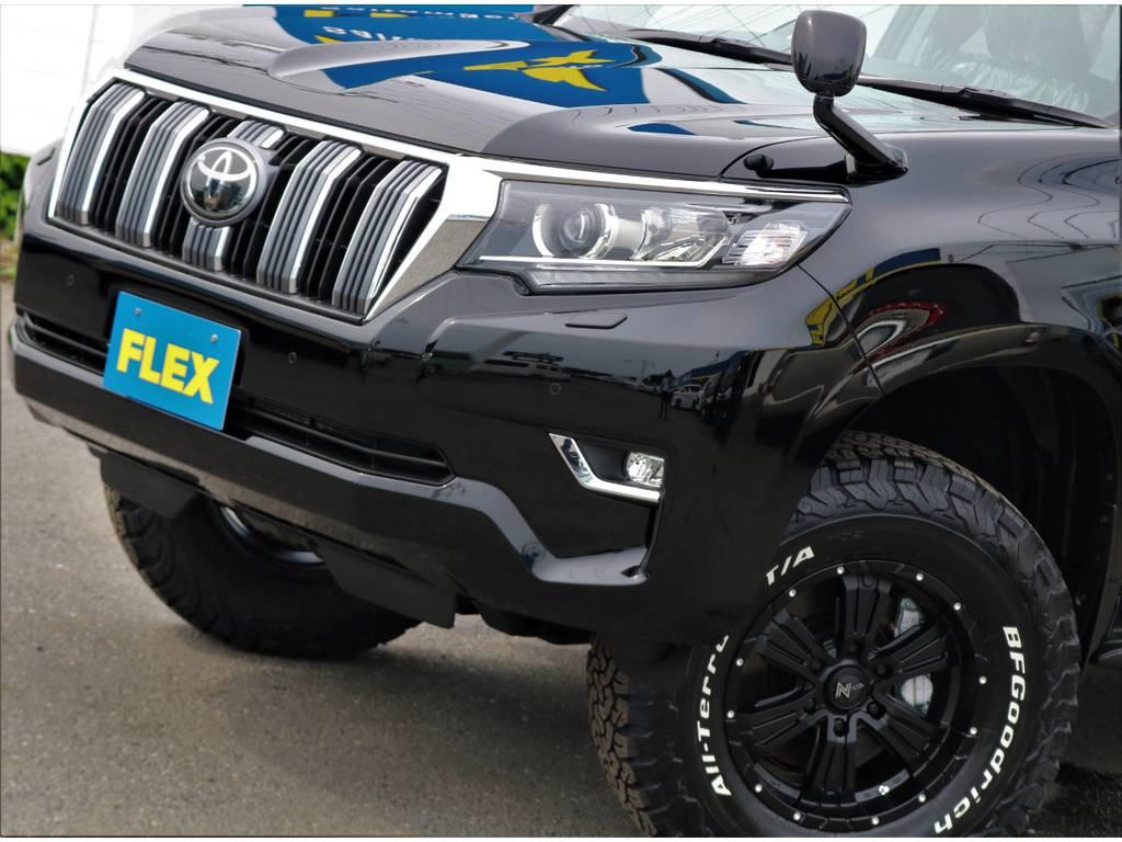 トヨタセーフティサポート標準装備です。さらにフルLEDヘッドランプも標準装備! | トヨタ ランドクルーザープラド 2.7 TX Lパッケージ 4WD 7人