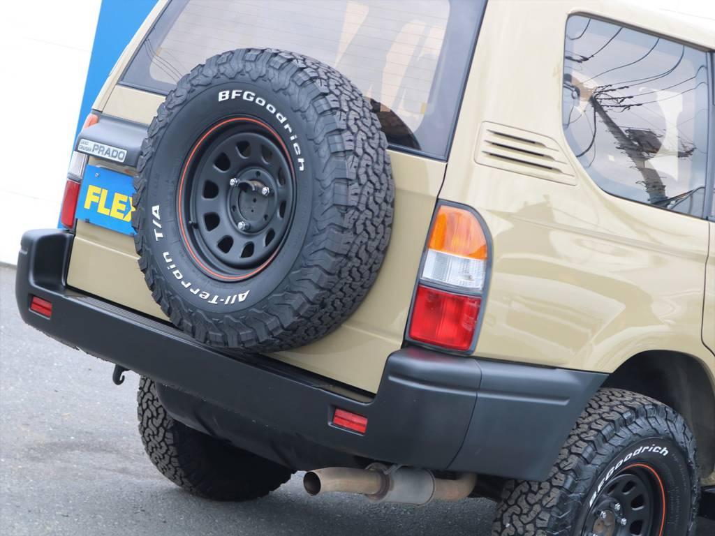 背面タイヤが意外とオシャレにみえるかも?!?!