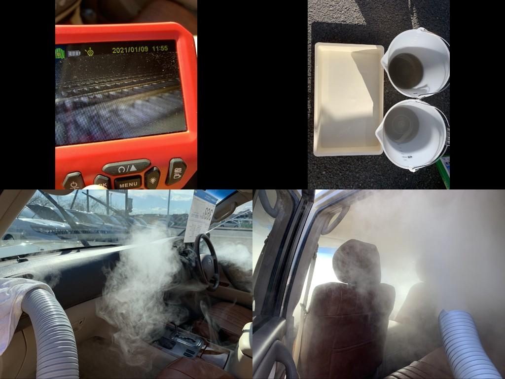 当店のお車はカーエアコン除菌洗浄防カビ施工済み!ダクト内除菌防カビ施工済み!嫌なエアコン臭もなくなり快適カーライフ♪家庭用のエアコンと同じで1年に一回やると効果は持続します!