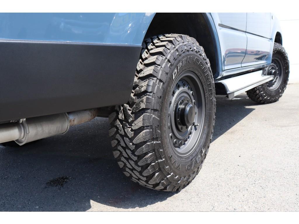 タイヤの出幅も問題なくボディとピッタリです!