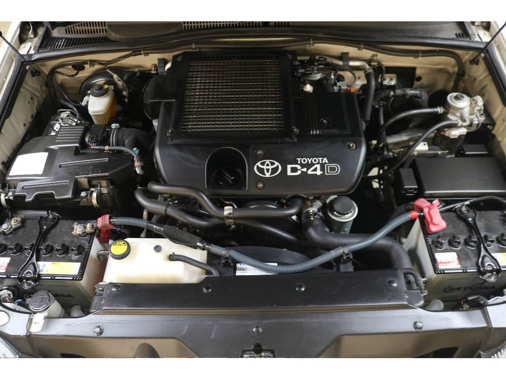 耐久性に優れた1KDエンジン搭載☆定評のあるエンジンです♪ | トヨタ ランドクルーザープラド 3.0 TXリミテッド ディーゼルターボ 4WD