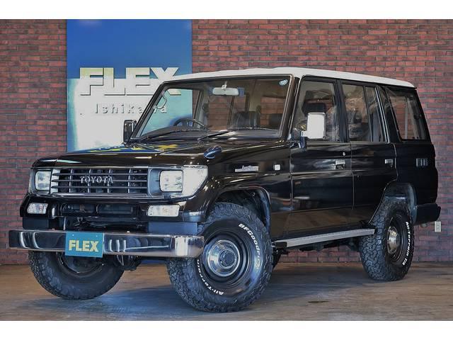 78プラド・買取車両・新品ATタイヤ・輸出用ホイール・シートカバー