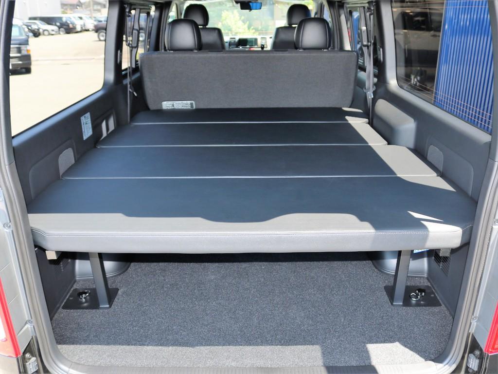 車中泊やキャンプに便利なベッドキット!高さ調整も可能!広々とお使いいただけます☆