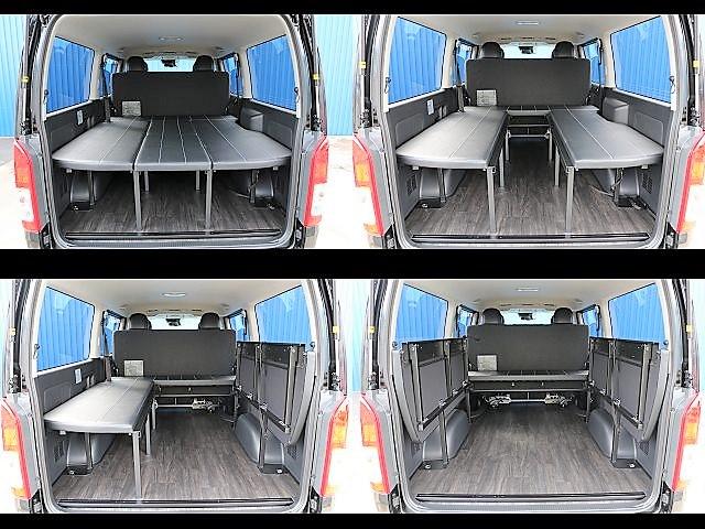 ベットキットは両側に跳ね上げ式☆自由な使い方を演出できます!! | トヨタ ハイエースバン 2.8 スーパーGL ロング ディーゼルターボ ダークP TSS付アレンジFU