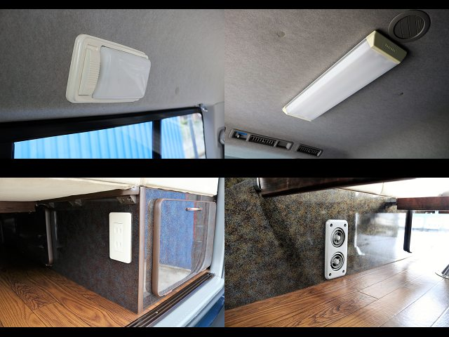 夜間の室内も安心ルームランプ増設☆100V電源コンセントも増設!!
