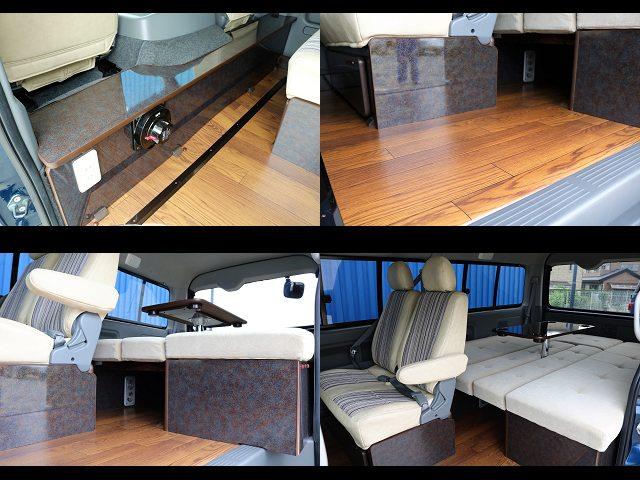 床張り施工、家具ベット、Renocaシートカバー☆ | トヨタ ハイエース 2.7 GL ロング ミドルルーフ ネイビー【CoastLines】