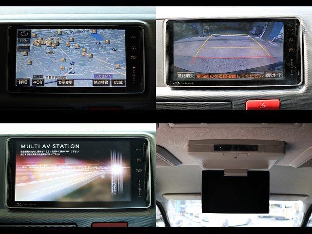 地デジナビ、バックカメラ、フリップダウンモニター搭載☆ | トヨタ ハイエース 2.7 GL ロング ミドルルーフ 【買取直販】3型ワゴン