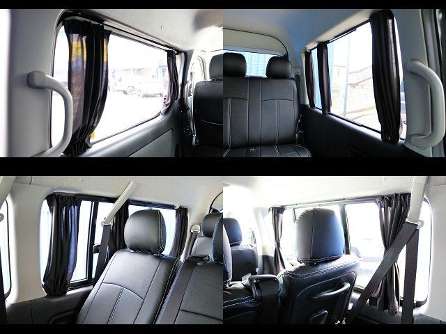 嬉しいカーテン5面付き☆ | トヨタ ハイエース 2.7 GL ロング ミドルルーフ 【買取直販】3型ワゴン