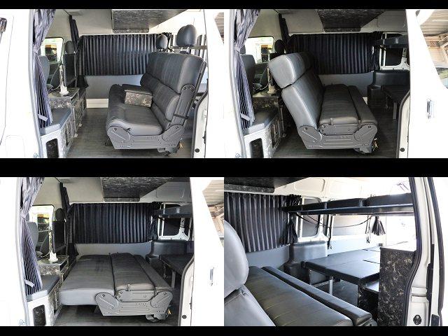 多様なシートアレンジ☆通常、対面式、フラット可能☆ | トヨタ レジアスエース 2.7 DX ワイド ハイルーフ スーパーロングボディ GLパッケージ 4WD キャンピングカー