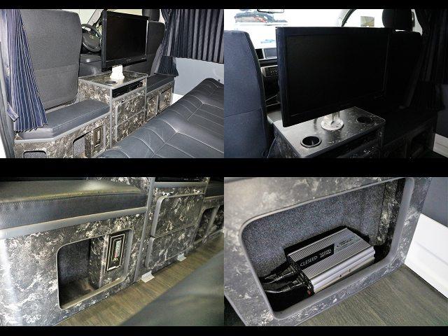 大型TV、DVDデッキ、走行充電、インバーター付き☆ | トヨタ レジアスエース 2.7 DX ワイド ハイルーフ スーパーロングボディ GLパッケージ 4WD キャンピングカー