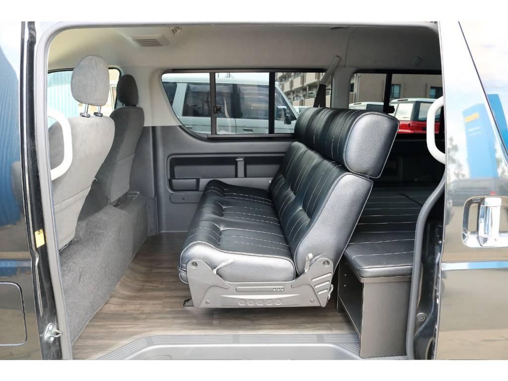 内装架装シートアレンジ☆ | トヨタ ハイエース 2.7 GL ロング ミドルルーフ 内装架装二の字ベット