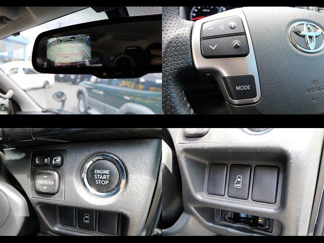 バックモニター付き自動防眩ミラー、ステアリングスイッチ、プッシュスタートボタン、電動パワースライドドア搭載☆