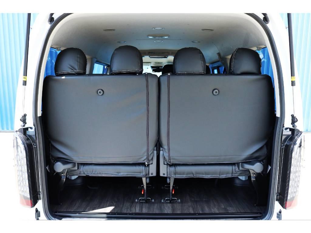 4列目シートで目隠しの役割も☆ | トヨタ ハイエース 2.7 GL ロング ミドルルーフ 内装アレンジR1架装