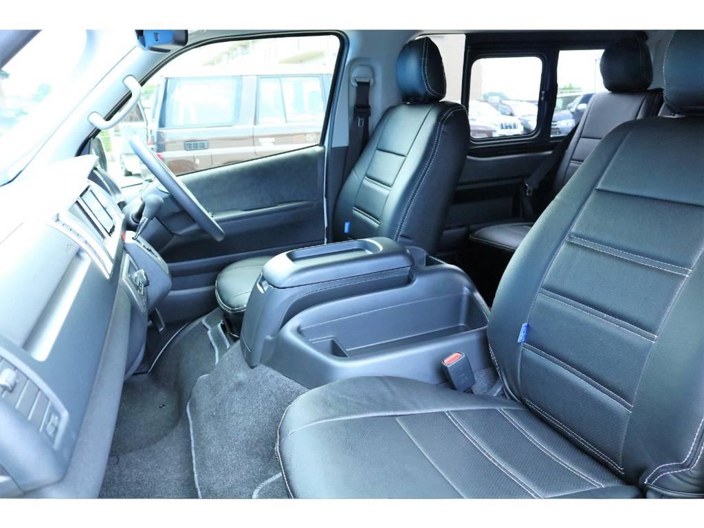 シートカバー装着☆ | トヨタ ハイエース 2.7 GL ロング ミドルルーフ 内装アレンジR1架装