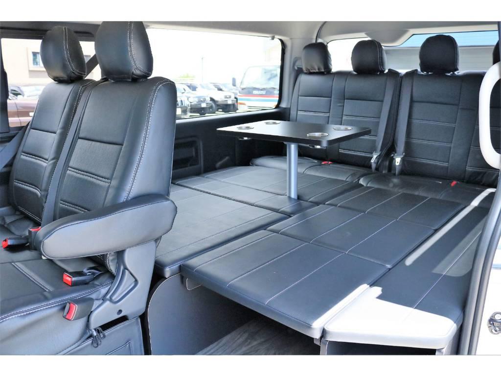 内装アレンジR1架装、ベットキットテーブル付き☆ | トヨタ ハイエース 2.7 GL ロング ミドルルーフ 内装アレンジR1架装