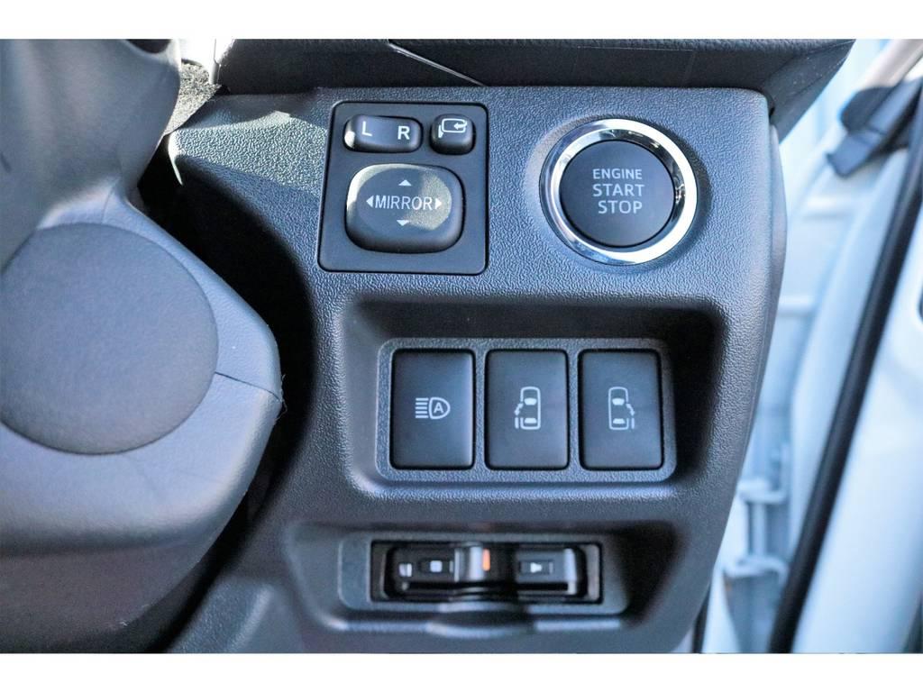 スマートキー&プッシュスタートボタン、オートハイビーム、自動パワースライドドア搭載☆